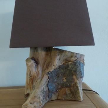 Tischlampe mit Treibholzfuß 8