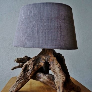 Treibholzlampe 12